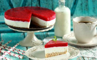 Málnás túró torta (paleo)