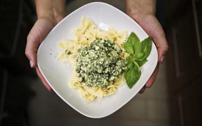 Totus-spenótos tészta